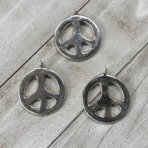 Navajo Sterling Silver Peace Sign Pendant